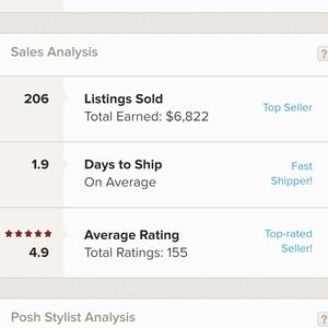 Shop with confidence! 4.9 average rating!